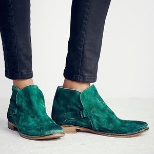 Free People Green Suede Summit Ankle Boot